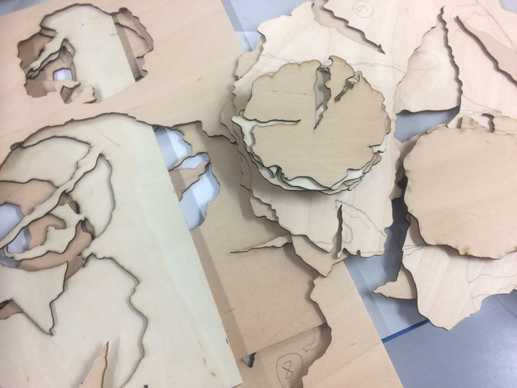 New Directions Stage 2: cutting the plates – cut pieces 1