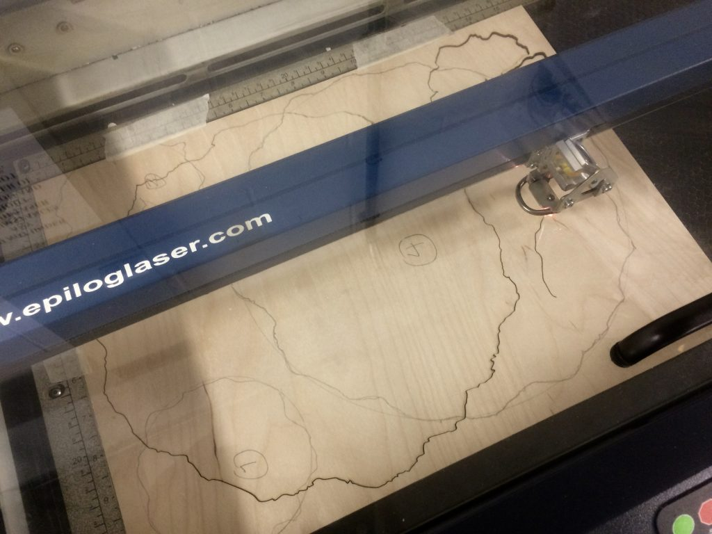 New Directions Stage 2: cutting the plates – laser cutting machine 1